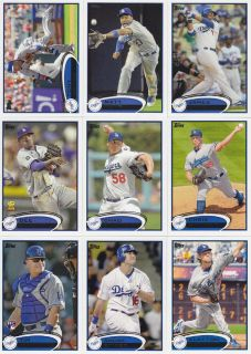 2012 Topps Baseball Los Angeles Dodgers Complete Authentic Team Set 20
