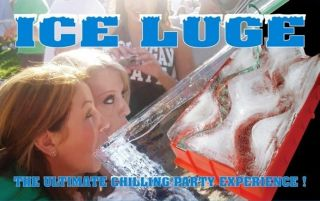 Ice Luge Drinking Game Party Experience New