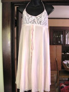 Vintage Lucie Ann of Beverly Hills Pink Lace Nightgown & Robe ~Claire