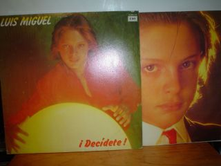 Luis Miguel Decidete Mexican LP 1983 Lyrics Mexico