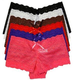 Sexy Lot LP7851B Medium M 7851 Floral Fully Laced Boy Shorts M