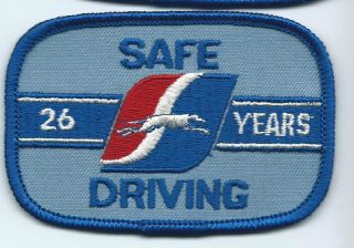 Greyhound Bus Driver Patch Cap Uniform Shirt 26 Years Safe Driving 3