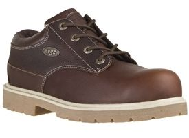 Lugz Mens Drifter Lo Work Shoes Boots Coffee Bean Brown Leather MDRLG
