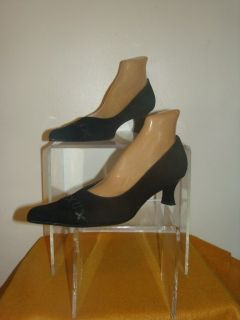 Lumiani Speciale New Black Suede Pump Shoes Size 42