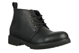Lugz Mens Chukka Black Nubuck Leather Ankle Boots Shoes MCHKDL 001