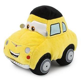 Disney Pixar Cars 2 LUIGI Stuffed Plush Doll 1959 Fiat 500 Yellow Soft