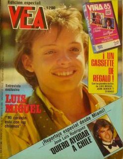 Luis Miguel Chilean Magazine VEA 1985 2