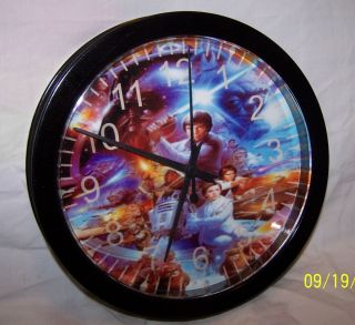 Star Wars Wall Clock Analog Luke Leia R2D2 Yoda Darth Vader More