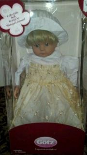 Gotz Collectible Doll Luise blonde hair blue eyes Girl new in box 25
