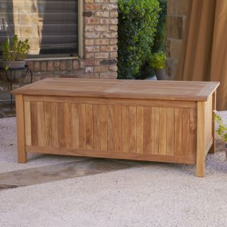 TEAK Wood Storage Box Bench for Pool Toys Patio Outdoor Deck Porch SEI