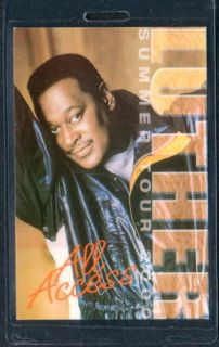 Luther Vandross Backstage Pass Laminate AA 2000