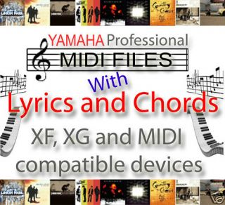 Yamaha Tyros Chords Lyrics MIDI File Styles Regi