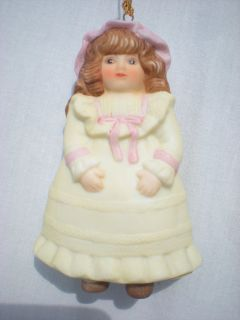 Gorham Doll Ornament Porcelain 1987 Rosamond Collectible Christmas in