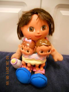 Fisher Price Talking Big Sister Dora the Explorer w Little Brother