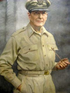 top Handpaint Oil Painting ★ Gen Douglas MacArthur