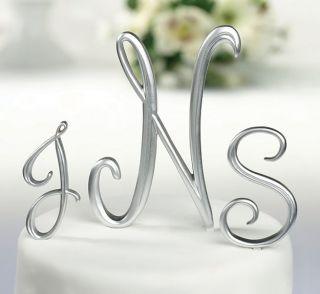 Silver Monogram Large Letter M Cake Topper Caketop