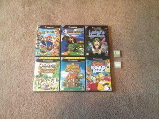 Nintendo GameCube Games Luigis Mansion Animal Crossing Mario Party