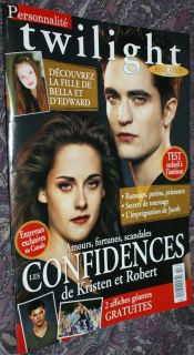 Twilight Issue Robert Pattinson Kristen Stewart Mackenzie Foy