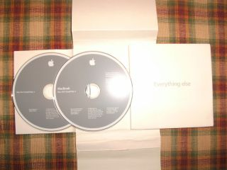 Apple MacBook Leopard OS X Install 10 5 2 Restore DVD Discs Original