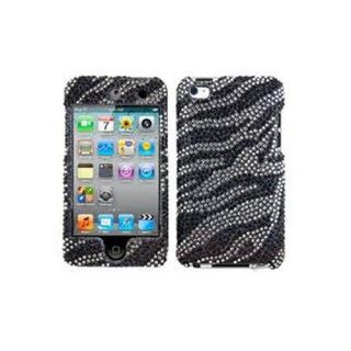 Bling Case Cover Skin for Apple iPod Touch 4th Gen Zebra Print