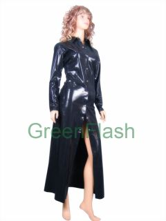 Rubber Latex Full Length Rain Coat Mackintosh Female