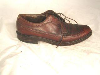 Narrow 10B Allen Edmonds MacNeil Wingtips Oxfords Dress Brown