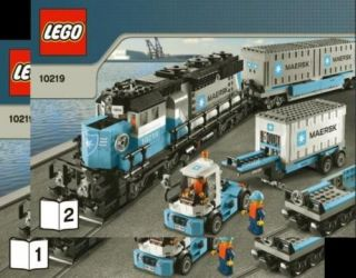 Lego Instruction Manual Maersk Container Train 10219