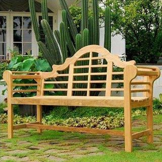 New Patio Porch Solid Teak Wood Lutyens Bench Chair 5 Outdoor Garden