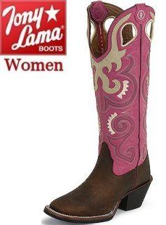 Womens Tony Lama 3R Madera Cherokee Hot Pink Bella Cowgirl Boots
