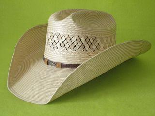 STETSON Madera 10X Straw Cowboy Western Hat AQHA Horse Show Modern