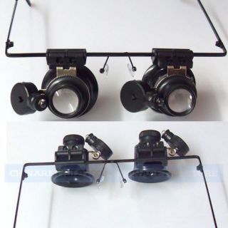 20x Magnifier Magnifying Eye Glasses Loupe Lens Jeweler Watch Repair