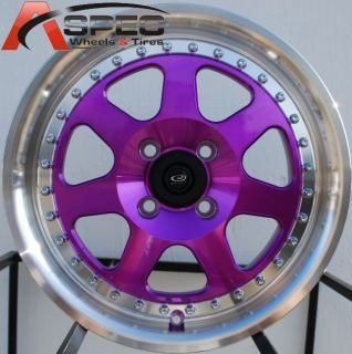 15x7 Rota J Mag Rim Wheels 4x100 Rims Fits Civic CRX Fit Integra