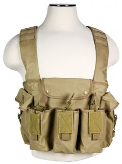 62x39 Tactical Chest Rig Vest Harness Magazine Holder Tan