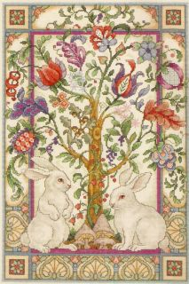 New Elsa Williams The Magic Forest Medieval Jacobean Rabbits Cross