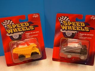 Maisto Speed Wheels Series x Yellow Dump Truck Black Gray Tow Truck