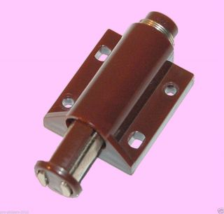 One Touch Press Open Magnetic Cabinet Cupboard Door Latch Catch Brown