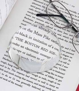 Reading Optic Paperweight Magnifier Magnifying Glass Large 3 Diameter