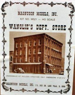 Magnuson Models M521 Wanglies Dept Store Building Kit HO Scale