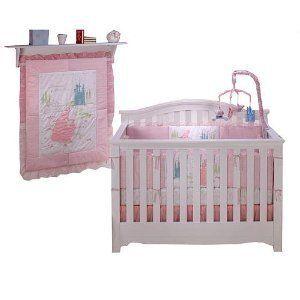 Disney Dreams Come True 4pc Baby CRIB BEDDING SET Girl Pink Princess