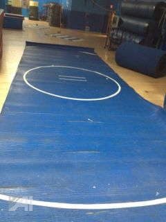 Used LARGE Blue High School Wrestling Mats Gym Sports Mat Each is 12