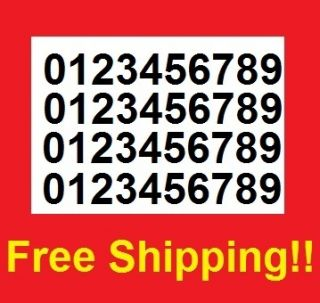 X4 Kit of Mailbox Toolbox Number Decal Stickers 1 50