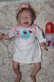 Reborn Crying Baby Girl Taite Sculpt by Denise Pratt
