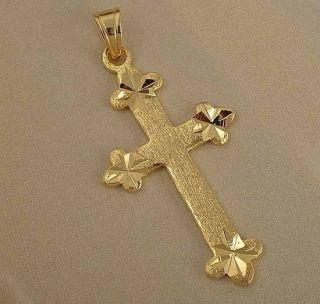 Majestic 9K Gold Filled Womens Cross Pendant Z 204