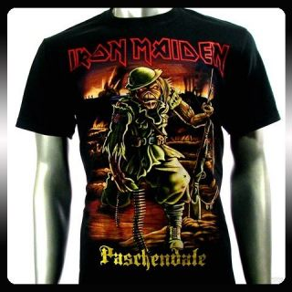 Iron Maiden Heavy Metal Rock Punk T Shirt Sz L Biker Rider Vtg