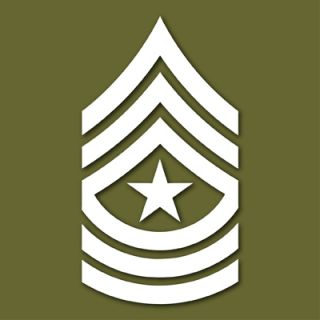 US Army E 9 Sergeant Major Vinyl Decal Sticker VLUSE9