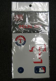 MLB Major League Baseball Texas Rangers Batting Helmet Decal Kit