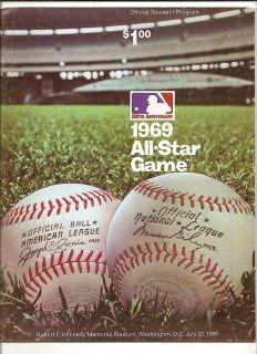 1969 Major League Baseball All Star Game Program