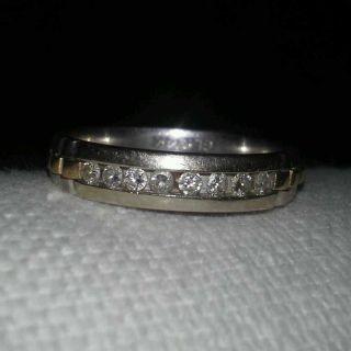 Men ring ,white gold 8 Diamonds size 10.5 Shoulder rolex ring good