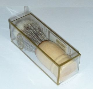 Shaving Brush New Cream Soap 100 % Kit Supply Stand Wooden Hair In Box