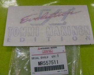 Mitsubishi Lancer EVO 6 CP9A Tommi Makinen Sticker Boot